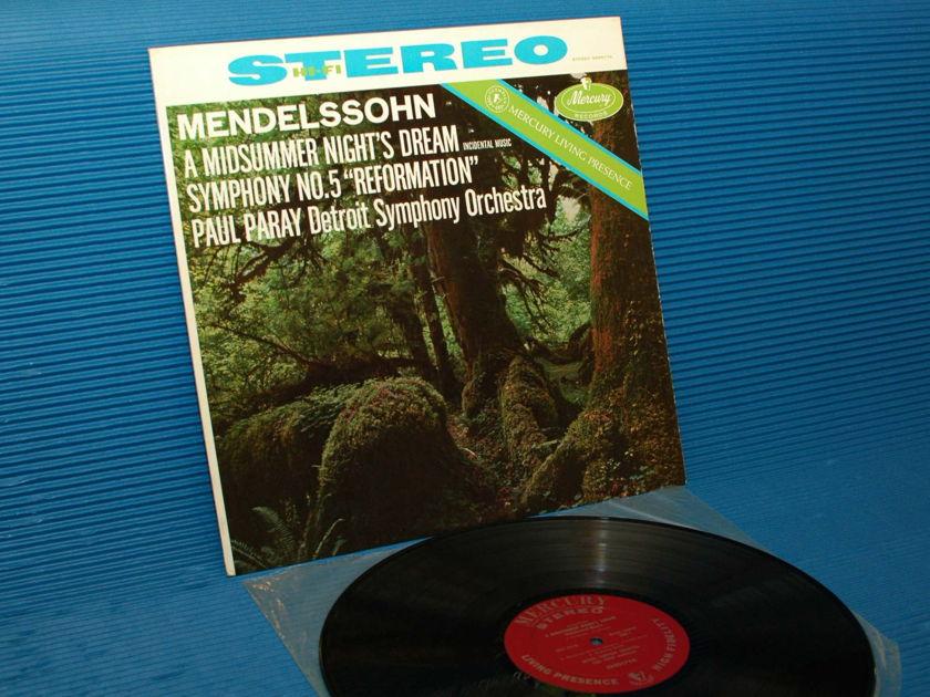 """MENDELSSOHN / Paray  - """"A Midsummer Night's Dream"""" -  Mercury Living Presence 196? early pressing"""