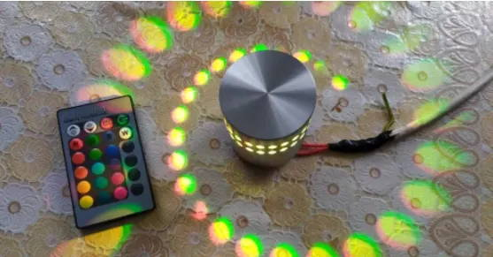 Wall lamp-light-effect-light-LED-spiral-wall lamp-spiraled-testimonial-5
