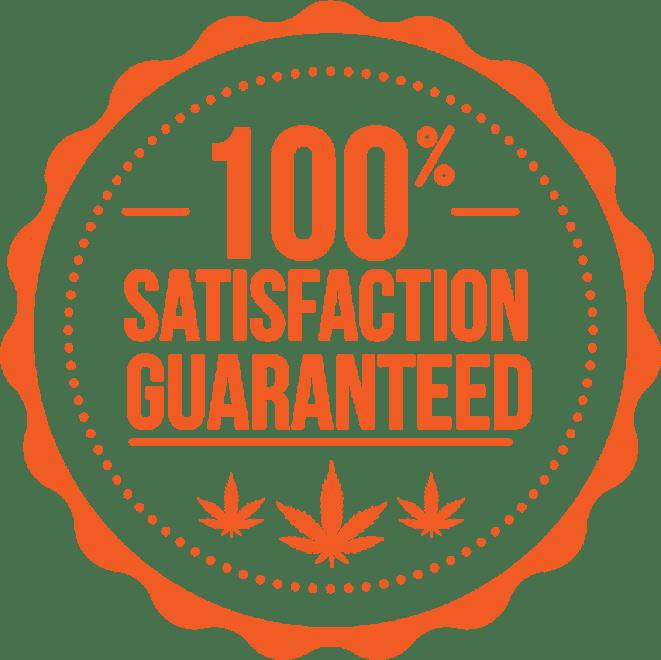 100% satisfaction guaranteed logo