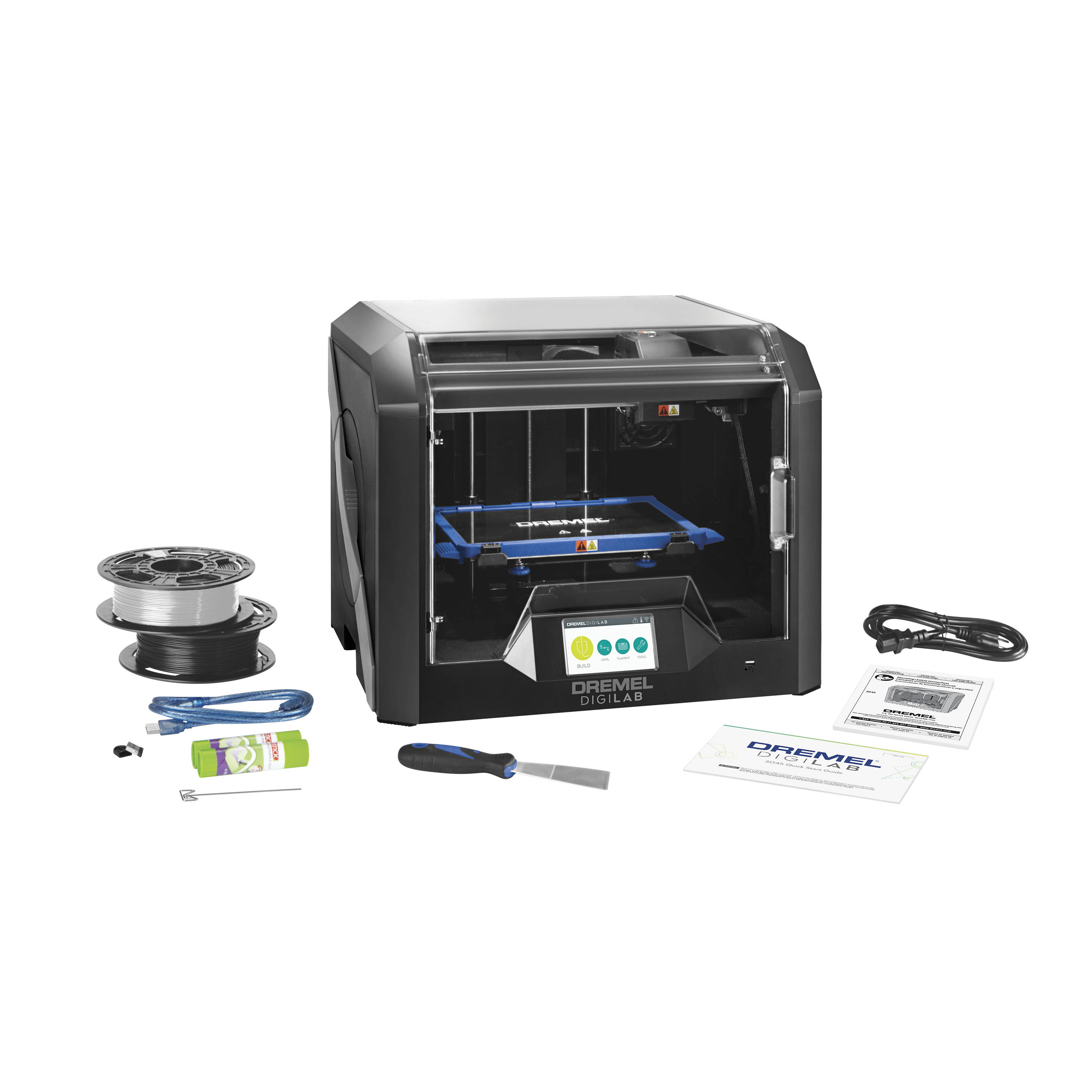Image of 3D45-01 3D printer kit with all included contents