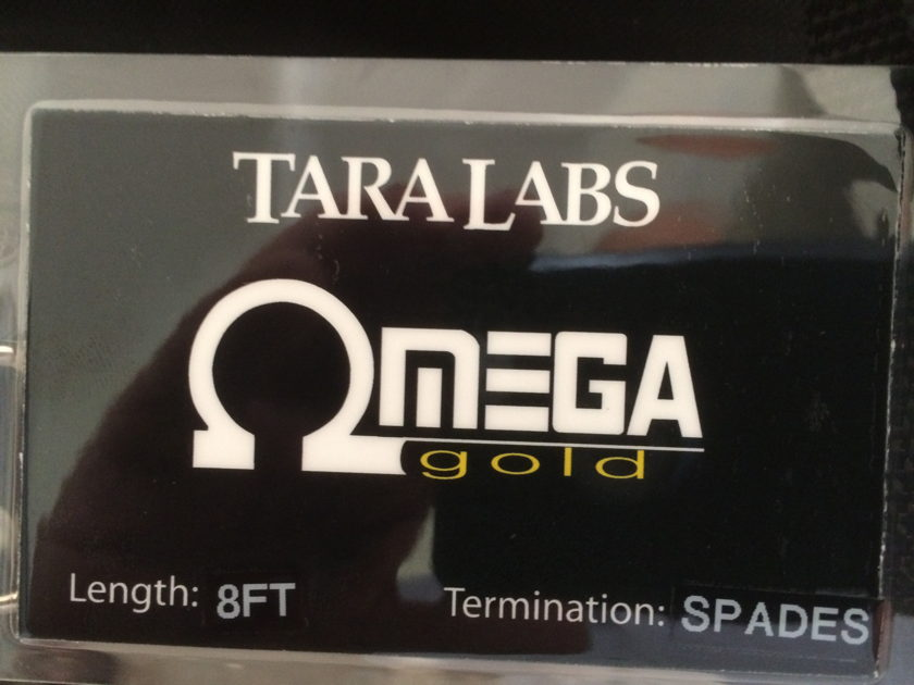 Tara Labs Omega Gold 8 ft. Speaker Cables with Spades