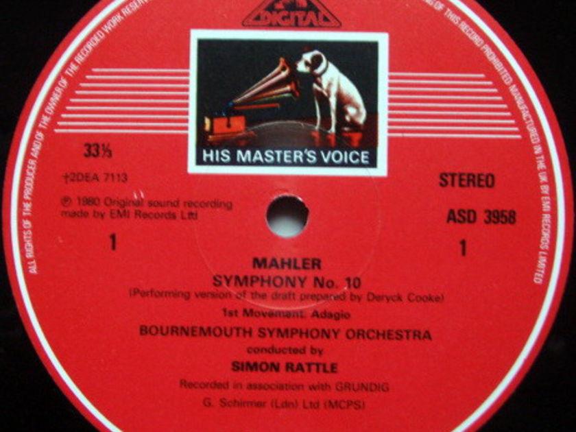 EMI ASD STAMP-DOG / RATTLE, - Mahler Symphony No.10, MINT, 2LP Box Set!