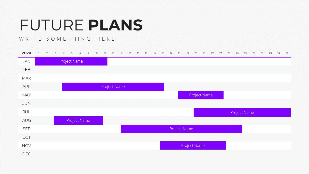 Minimal X  Pitch Deck Presentation Template Future Plans