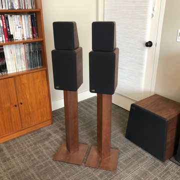 classic monitors in walnut