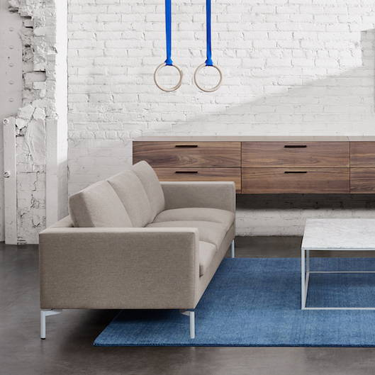 Blu Dot New Standard 92 in Sofa, featured in Nixon Sand