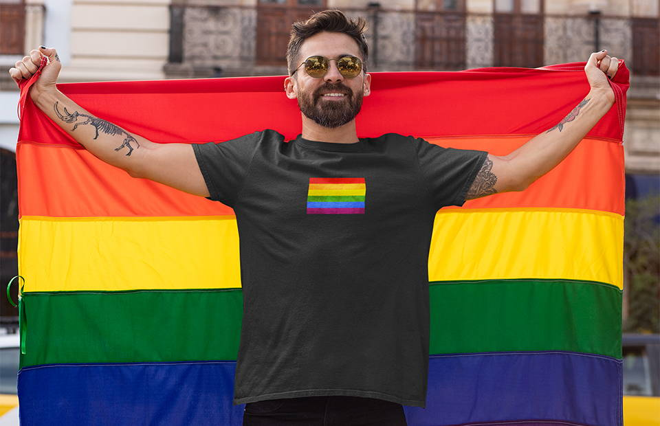 funny lgbt shirt weared by men