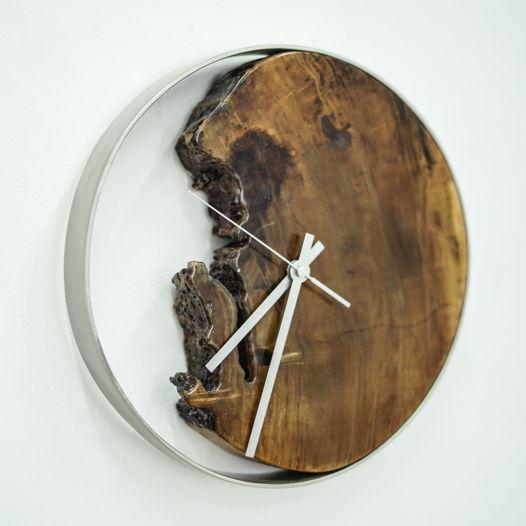 Часы с фрагментом спила вяза, малые