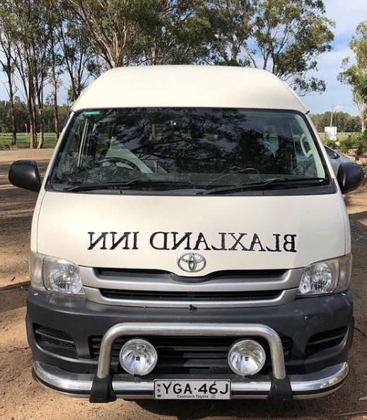 Free Shuttle Bus at Blaxland Inn Hunter Valley Restaurant Hunter Valley Winery