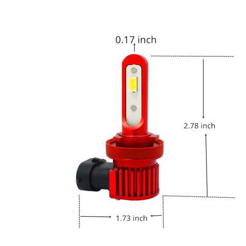 Alla AL-R H10 9145 LED Bulb Fog Light DRL Replacement H16 Dimension