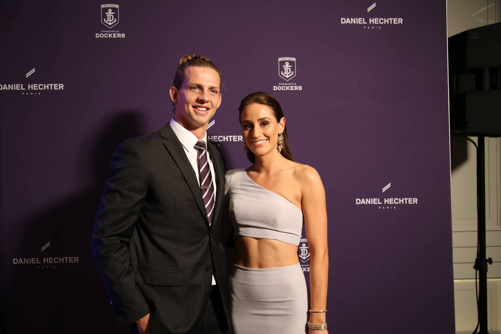 Nathan Fyfe and his partner at the Fremantle Dockers Gala