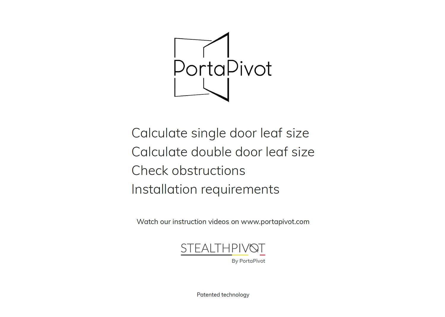 How to measure a pivot door pdf