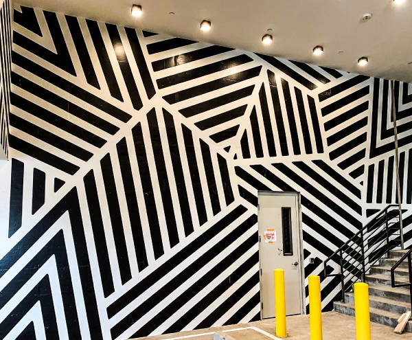 Interior Vinyl Wall Wrap -  Zig Zag Wall Wrap