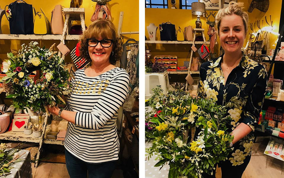Finished Wreaths at the Farnham in Bloom Workshop