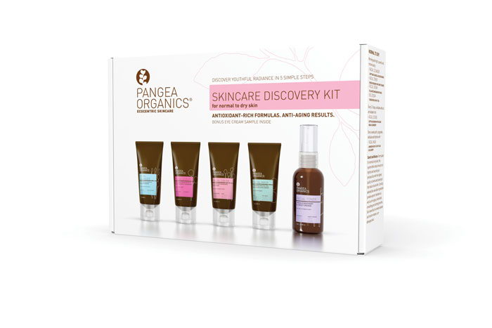 PANGEA SKINCARE DISCOVERY KIT NORMAL DRY OUTSIDE 2011 PRINT