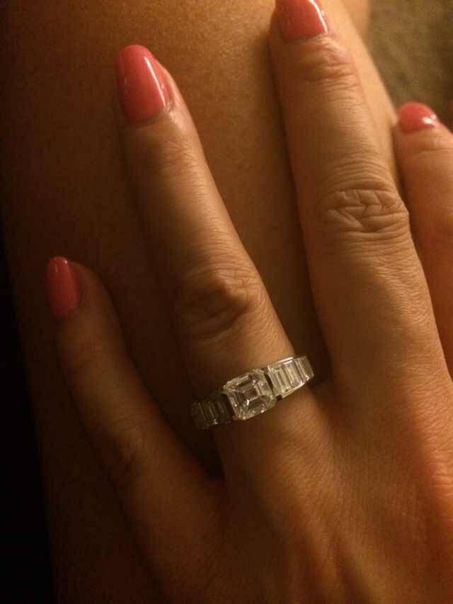 Paul`s fiancée's engagement ring