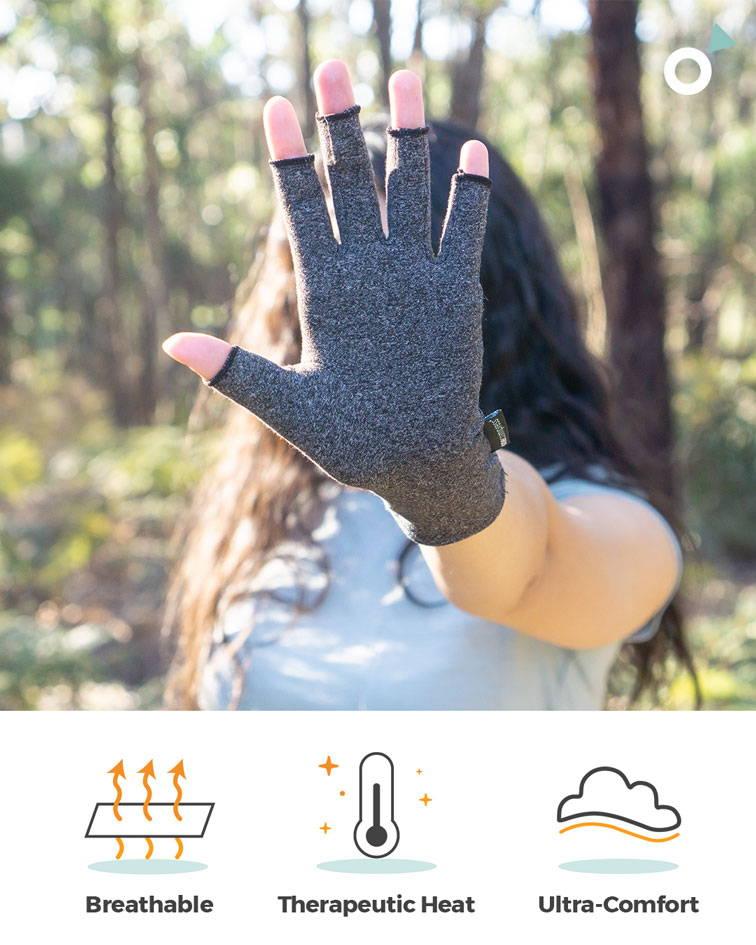 eliminate hand pain, stiffness, compression gloves, arthritis hands