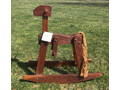 Rustic Heirloom Black Walnut Rocking Horse