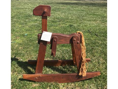 Rustic Heirloom Black Walnut Rocking Horse