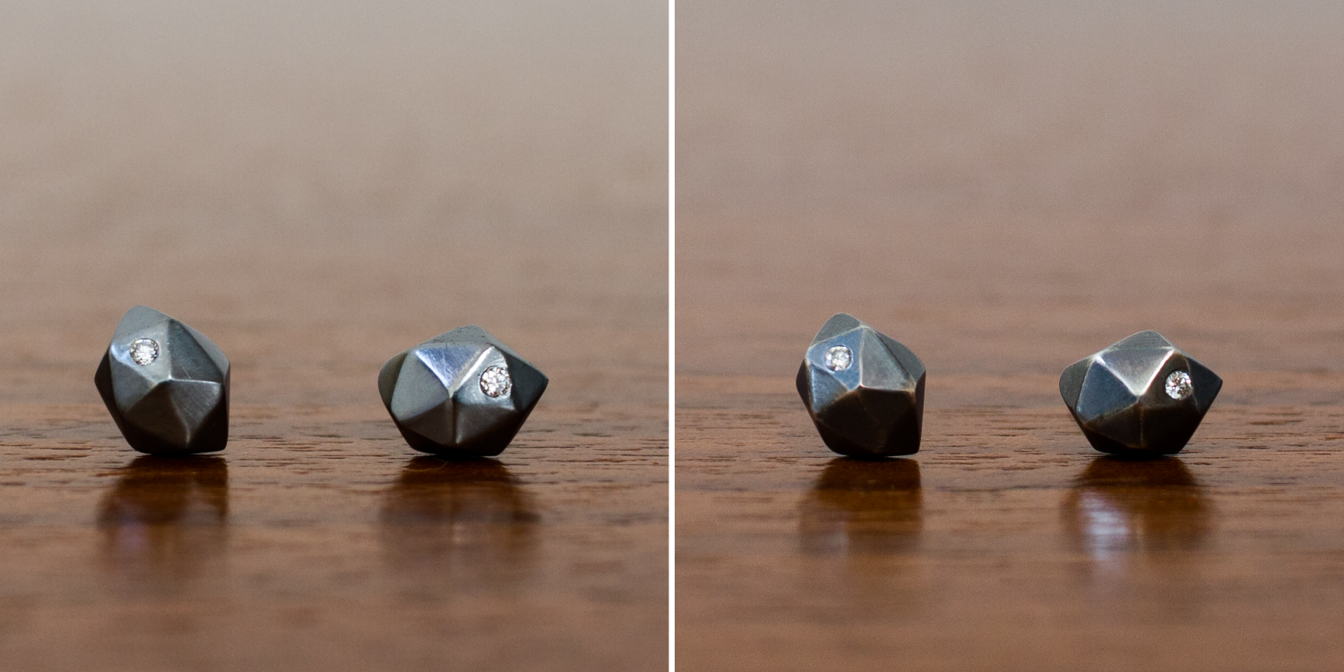 Oxidized silver stud earrings wear after 30 days