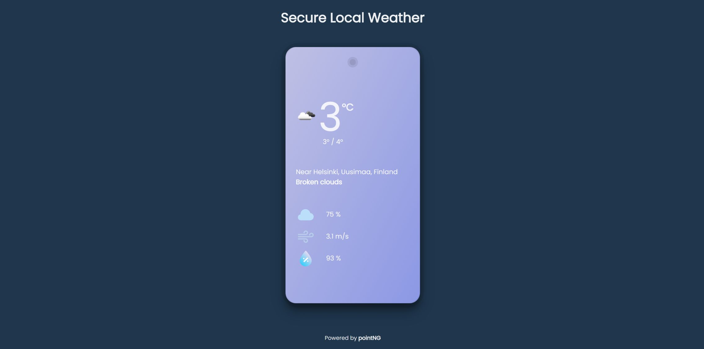 Secure local weather