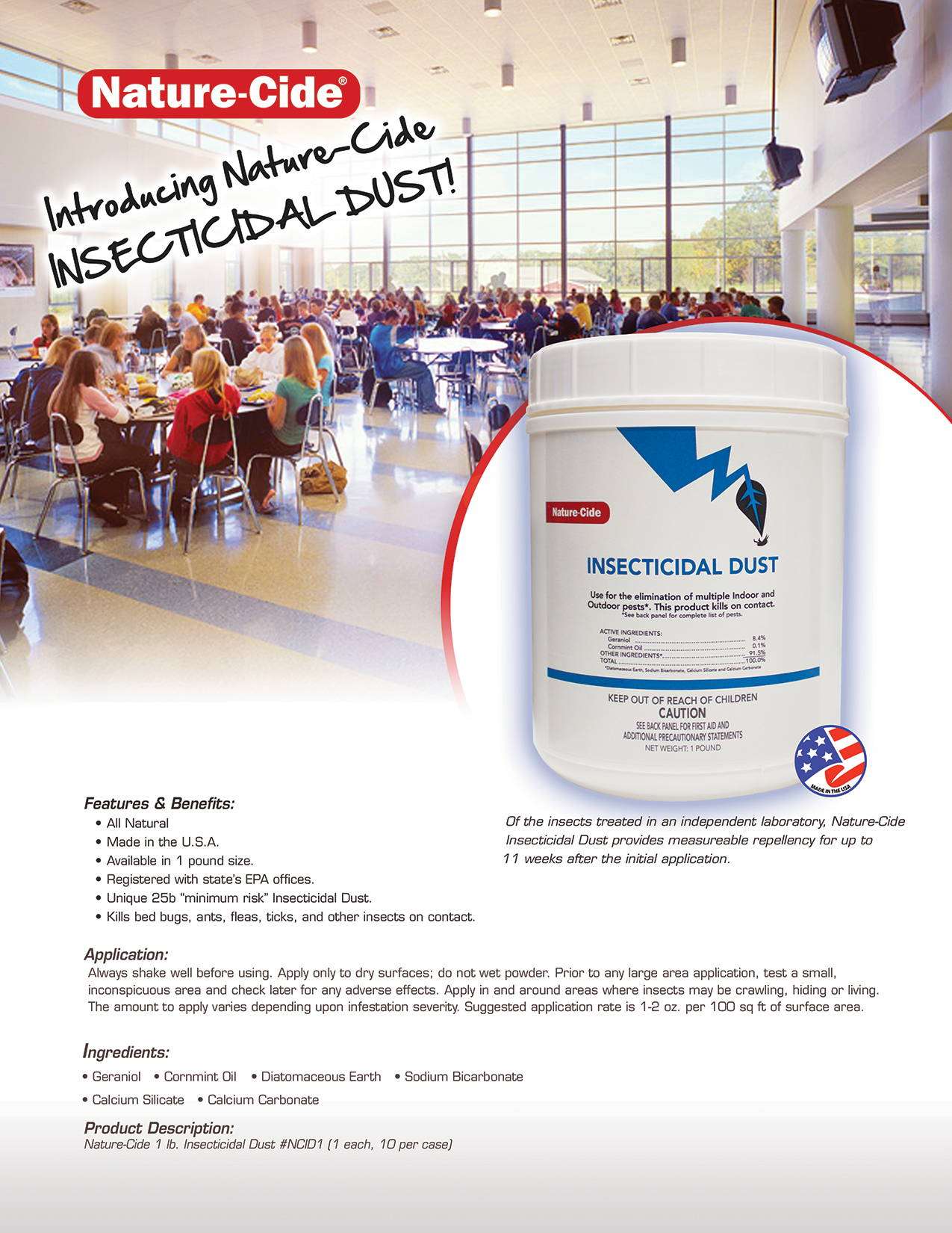 Nature-Cide Insecticidal Dust Product Info