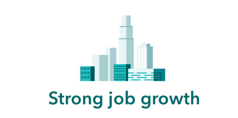 Strong job growth