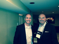 Dan Seivert of ECHELON and Tom Lydon of ETF Trends at Junxure party.