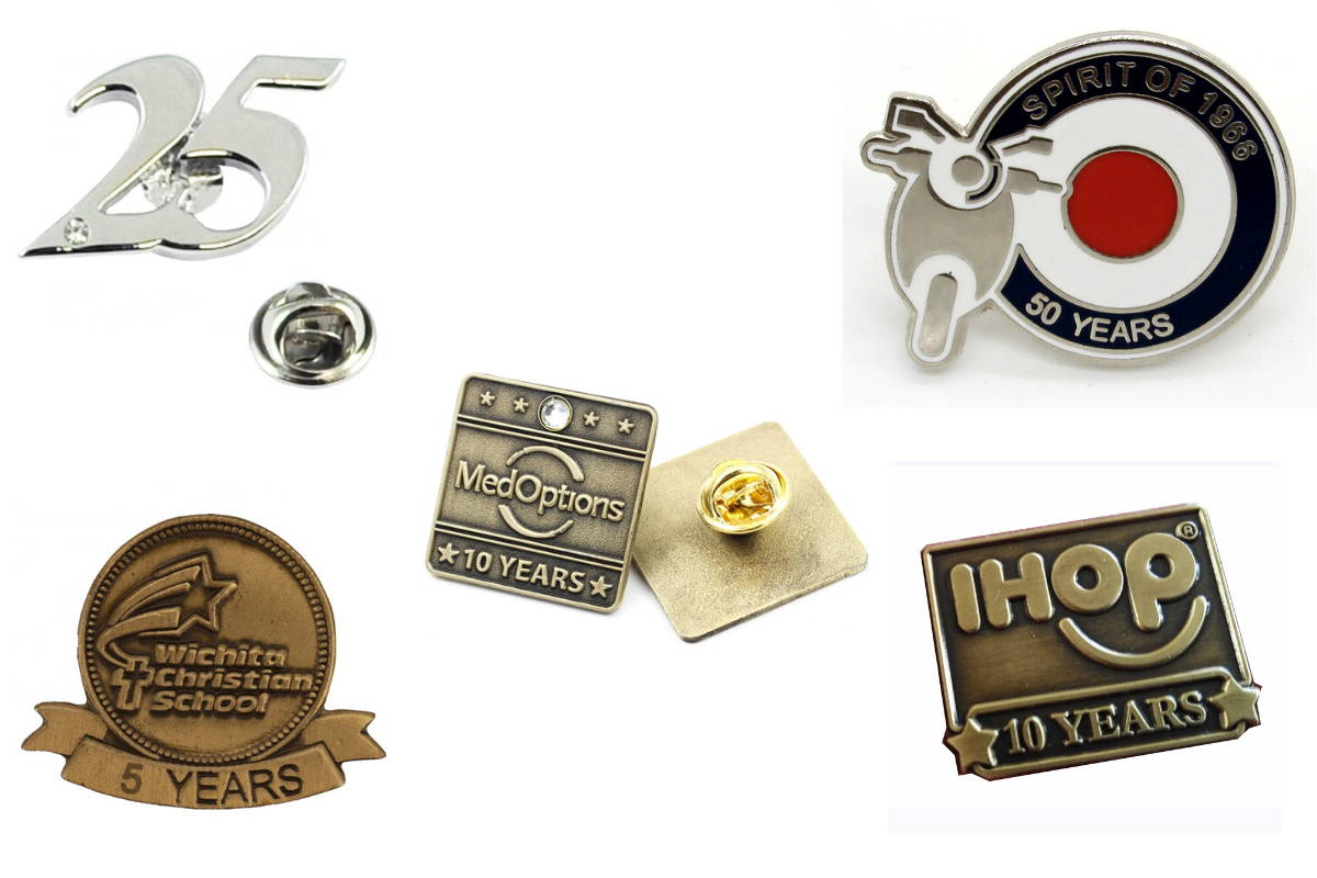 Years of Service Lapel Pin, Year of Services Lapel Pins, Years of Services
