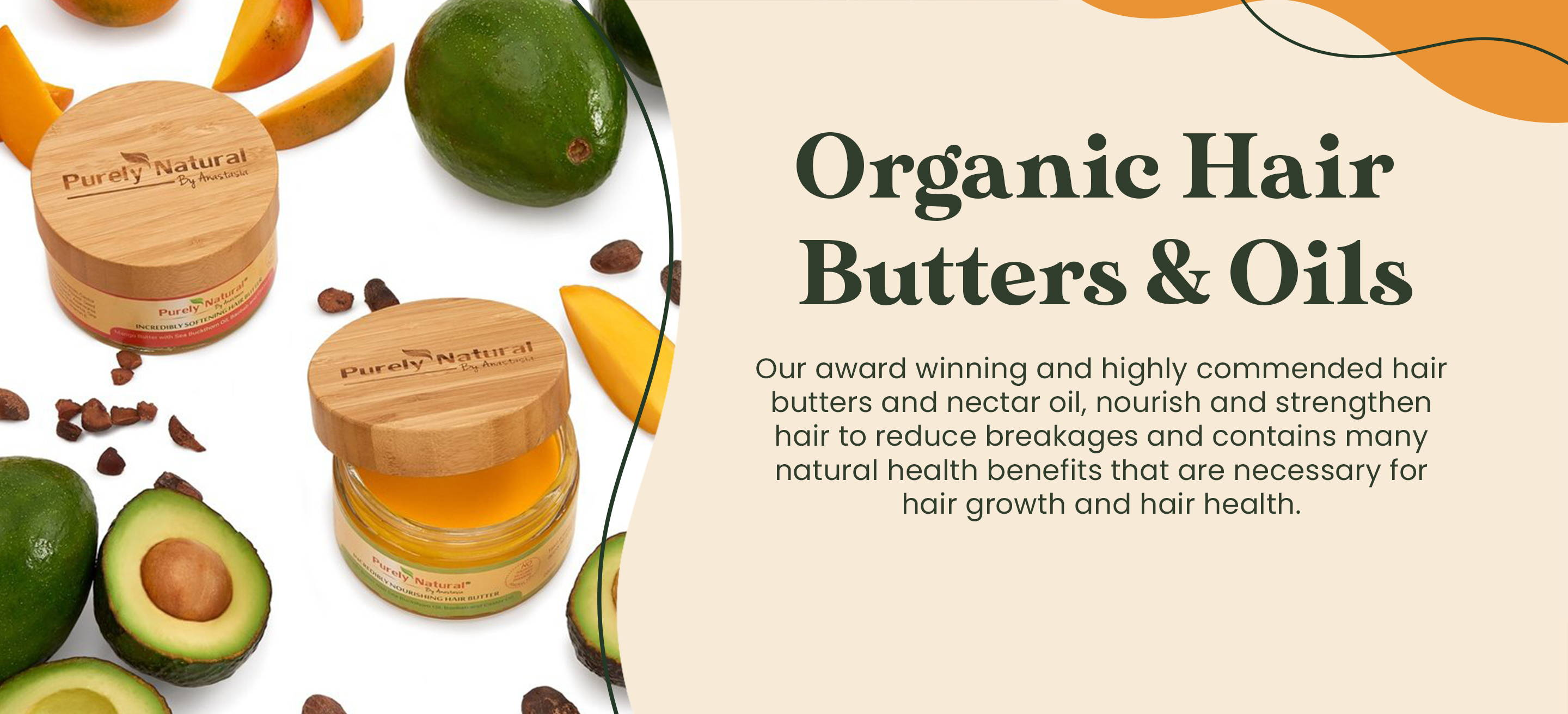 Organic Hair Butters and Oils from Purely Natural by Anastasia