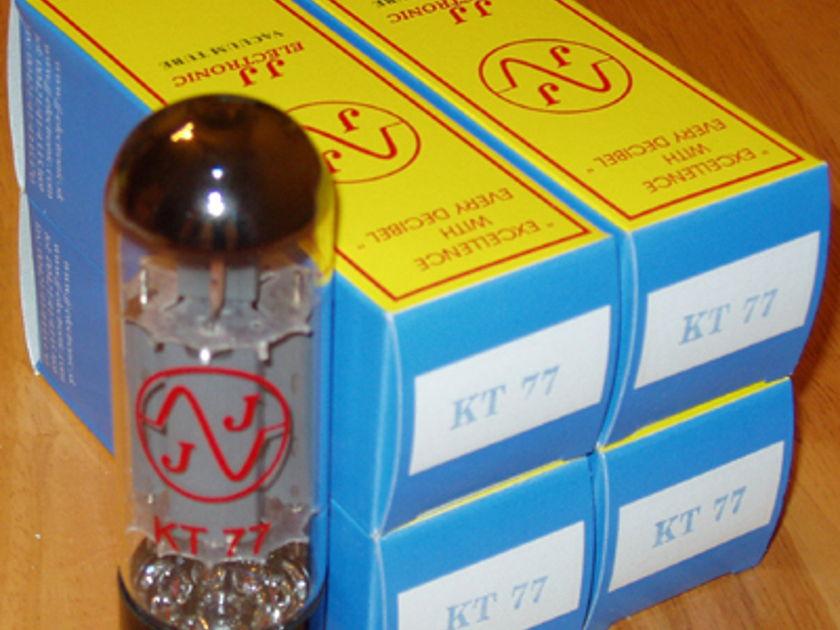 JJ  Electronics KT77/ EL34 tubes brand new matched quads !