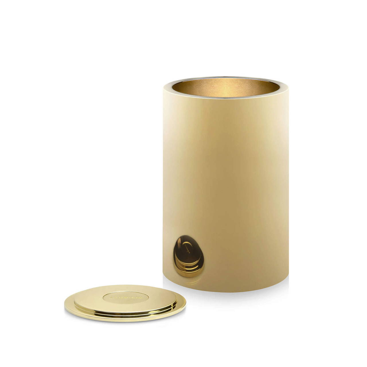 Polished Brass Pot 90 with Lid off