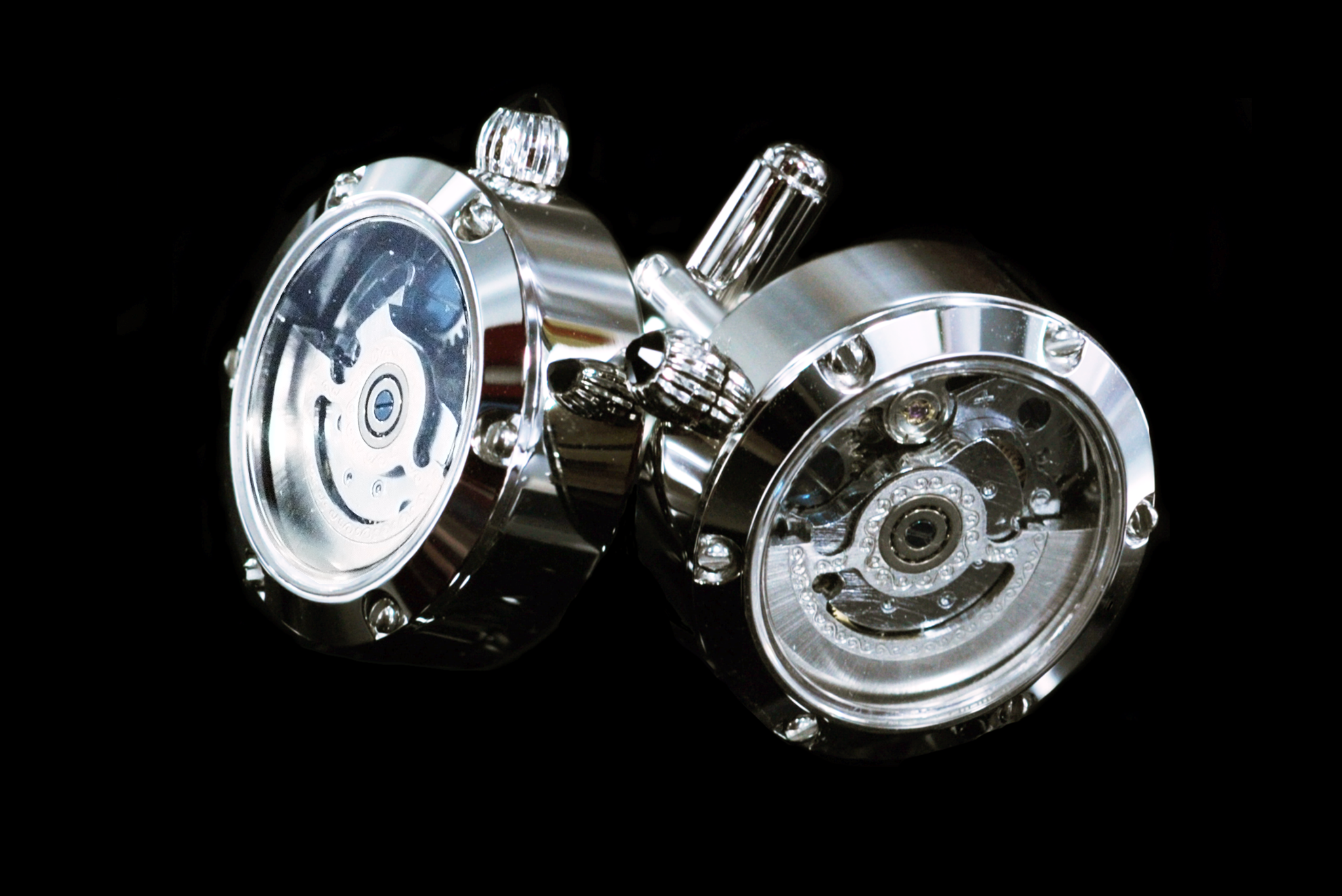 Automatic Watch Movement Cufflinks front view