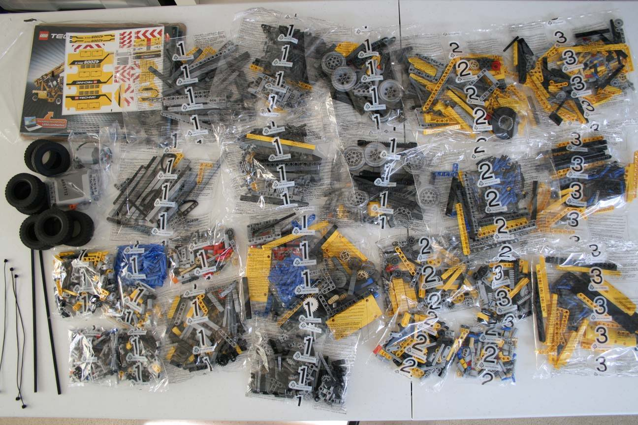 lego 42009 parts and bags