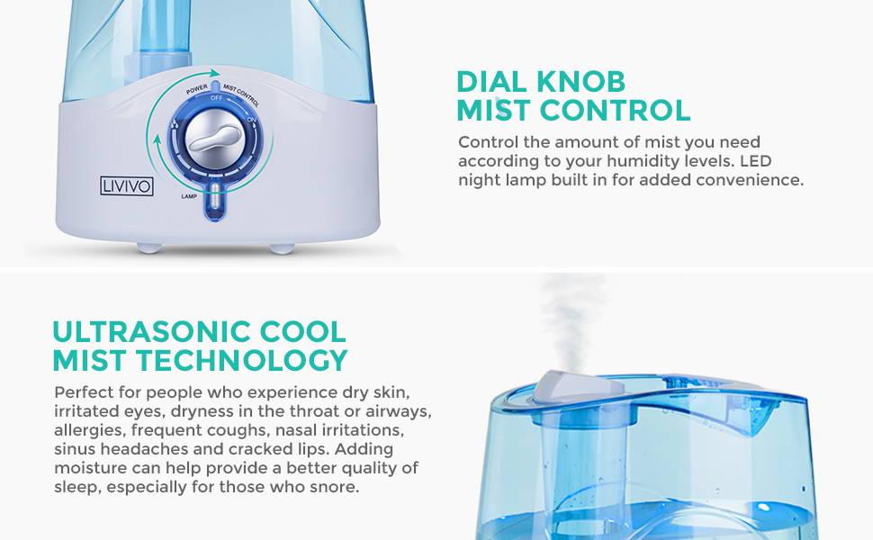 LIVIVO | Air Treatment | 4.5L Ultrasonic Humidifier