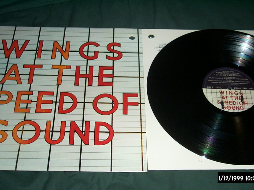 Wings - At The Speed Of Sound LP NM