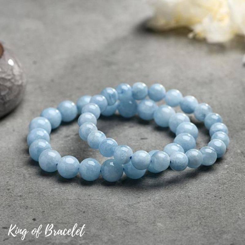 Bracelets en Perles d'Aigue Marine Naturelle - King of Bracelet