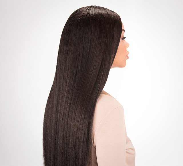 Kinky Straight Hair Extensions from Side