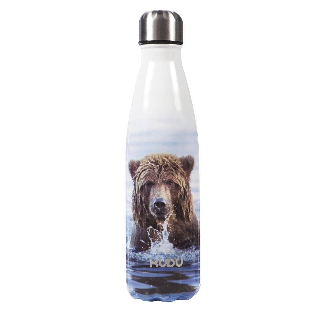 Plastic free alternative reusable water bottle from Sustainable brand Kudu Bottles