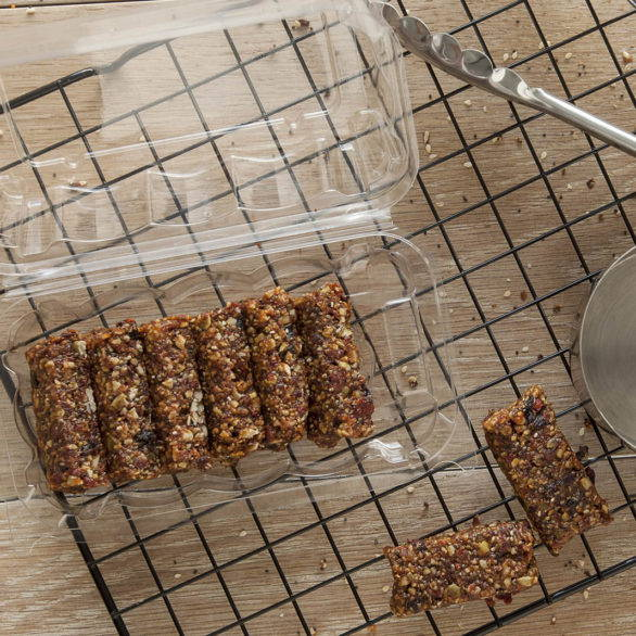 eco friendly packaging for baked goods, bar and brownie compostable containers, canada