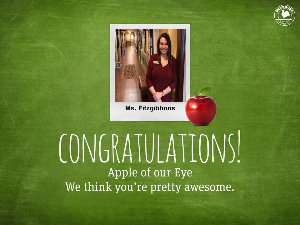 Ms. Fitzgibbons teacher of the month