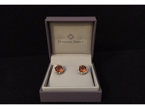 Silver and Gold Earrings with Citrine by Tacori