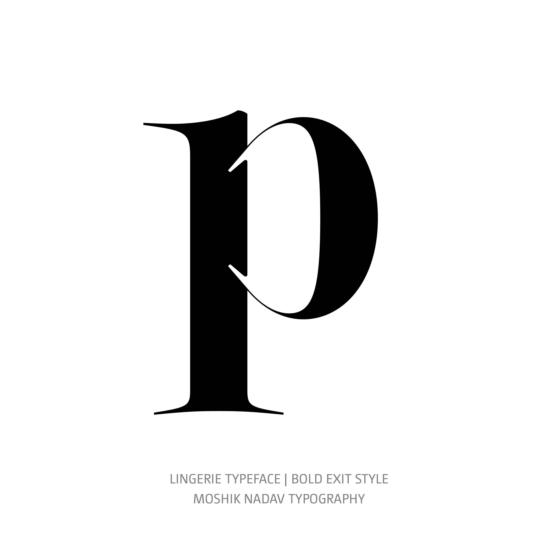 Lingerie Typeface Bold Exit p