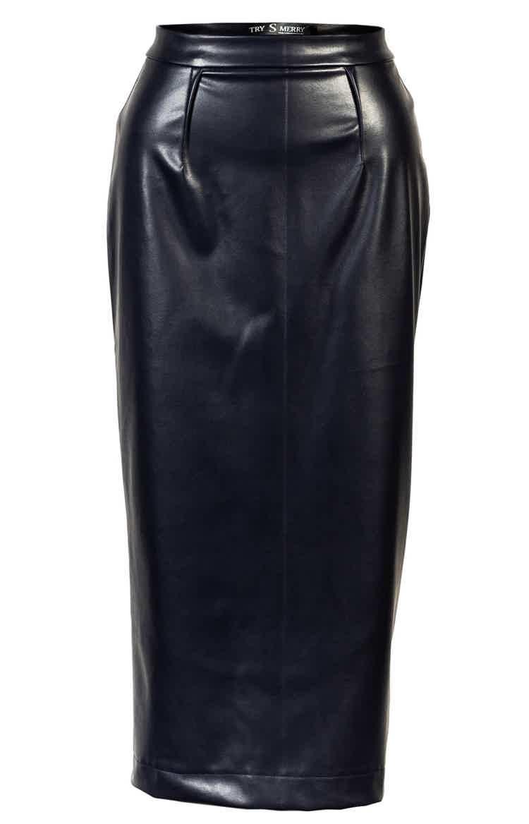 Penсil cut skirt