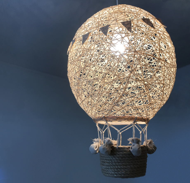 Светильник из ниток Воздушный шар