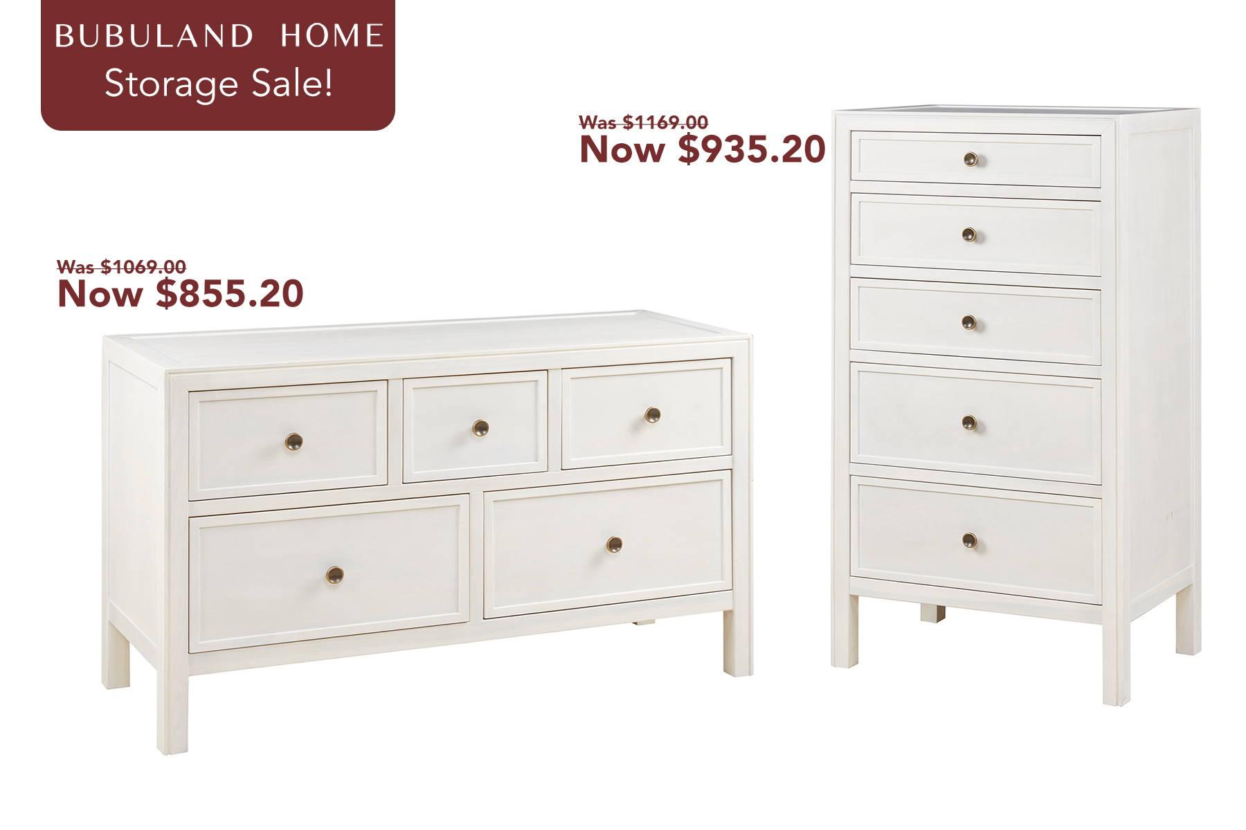 two white drawers dresser