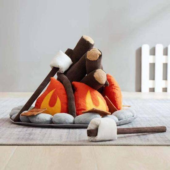 Campfire + S'mores Plush Playset