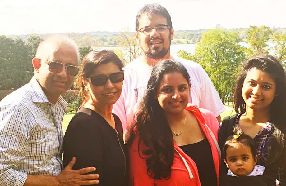 Franchise Owners of Primrose School Arshad and Arshia Nizam with their family