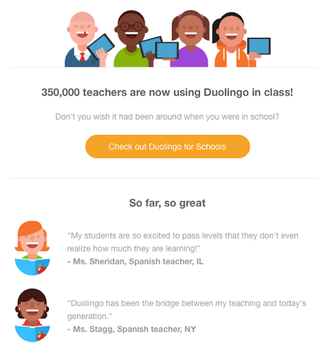 Duolingo. successful email marketers