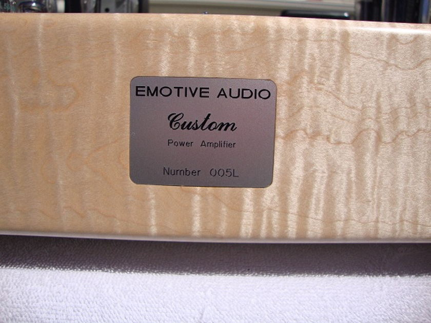 Emotive Audio Custom E-Linear Monoblock Power Amplifiers