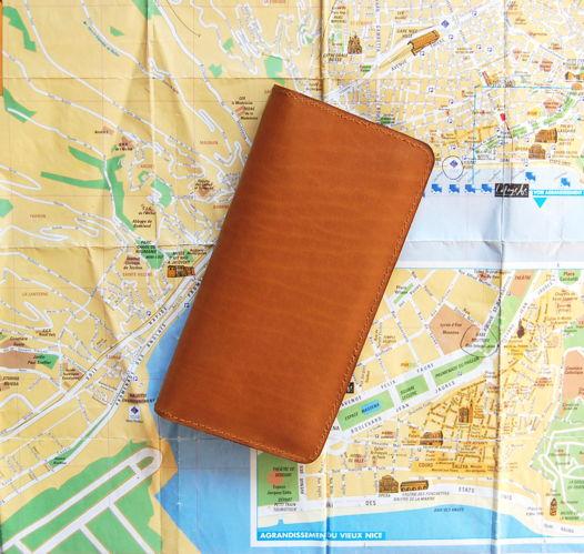Кожаное рыжее портмоне Classic Ginger